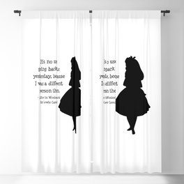 Alice in Wonderland Quote Blackout Curtain