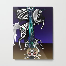 Fusion Keyblade Guitar #186 - Unicornis' Keyblade & Master Xehanort's Keyblade Metal Print