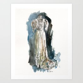 Suzanne's Dress Art Print