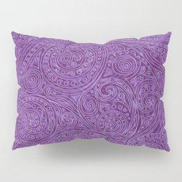 Lavender Spiral Pattern Pillow Sham