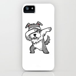 Funny Schnauzer Dabbing iPhone Case