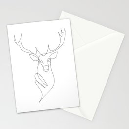 oh deer - one line Stationery Cards