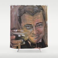 gatsby Shower Curtains featuring The Great Gatsby by Marianne Goodell Art