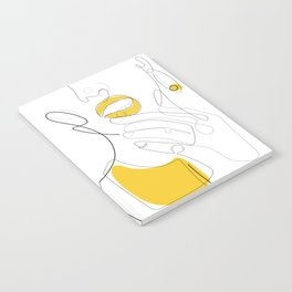 Bold Mustard Lip Notebook