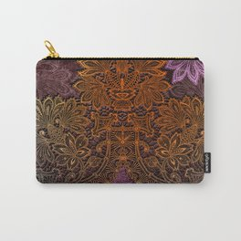 lace burst on dark ground Carry-All Pouch