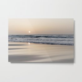Pastel sunset at the beach II | Waves of the Atlantic Ocean | Fine Art Travel Photography | Metal Print