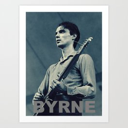 Byrne in Blue #2 Art Print