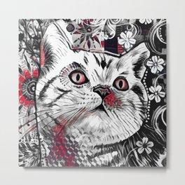 Cat Decor Metal Print