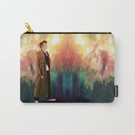 The 10th Doctor who with abstract background iPhone 4 4s 5 5c 6, pillow case, mugs and tshirt Carry-All Pouch