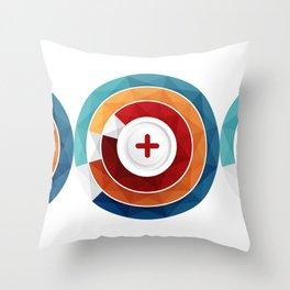 Geometric Modern Digital Abstracr Throw Pillow