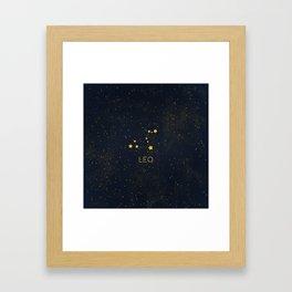 Leo Framed Art Print