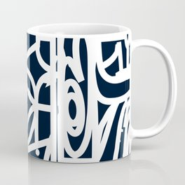 Stained Glass Pattern Black and White Coffee Mug