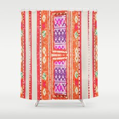 tangerine shower curtains | society6