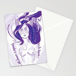 Salvador Dalí Nude Woman, masked, paper kitsune, fox girl, original wall decor Stationery Cards