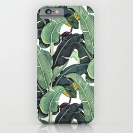 banana leaf pattern iPhone Case