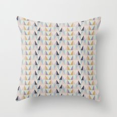 Multi-Pastel Triangles Throw Pillow