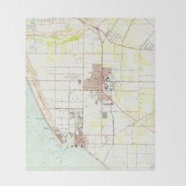 Vintage Map of Oxnard California (1949) 2 Throw Blanket