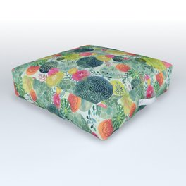 Succulent Circles Outdoor Floor Cushion