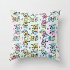 Mermaid Streams Throw Pillow