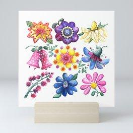 Pretty Flowers All in a Row Mini Art Print