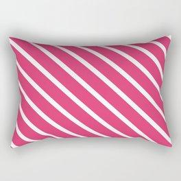 Pink Freesia Diagonal Stripes Rectangular Pillow