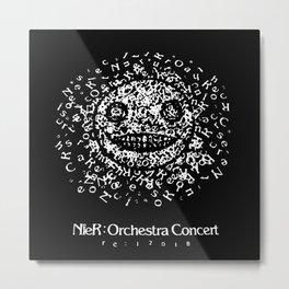 NieR Orchestra concert Emil face Metal Print
