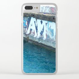 Island Graffiti Clear iPhone Case