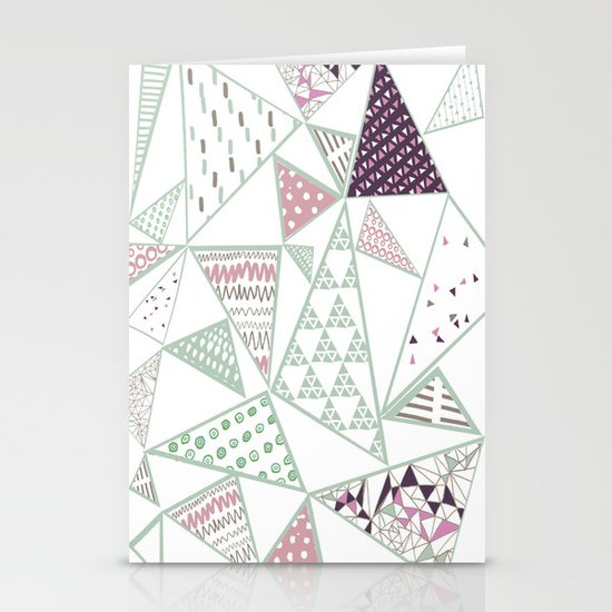 Triangle print 2 Stationery Cards