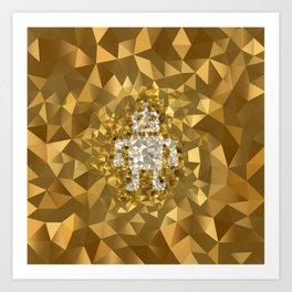 POLYNOID Robot / Gold Edition Art Print