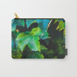 closeup green ivy leaves background Carry-All Pouch