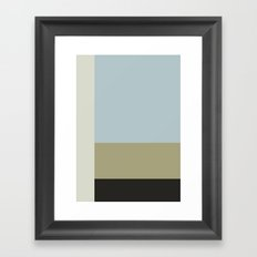 Minimal Abstract Blue Framed Art Print