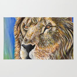 Portrait of a Lion Rug
