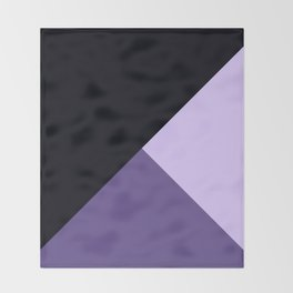 Trinity Color Block Ultra Violet Throw Blanket