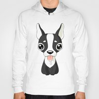 french bulldog Hoodies featuring French Bulldog by Freeminds