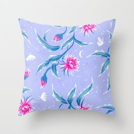 Queen of the Night - Mauve / Pink Throw Pillow