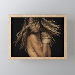 Tied up Blonde Framed Mini Art Print