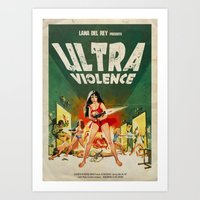 ultraviolence Art Prints featuring ULTRAVIOLENCE by Ads Libitum