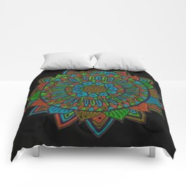 Glow Doodle Mandala Comforters
