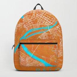 Belgrade, Serbia, Gold, Blue, City, Map Backpack