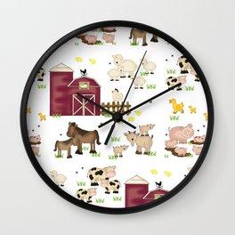 Farm Animals Kids Wall Clock