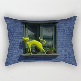 The Yellow Cat - Window By THE-LEMON-WATCH Rectangular Pillow