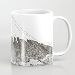 Mt Fuji and Delphines Coffee Mug