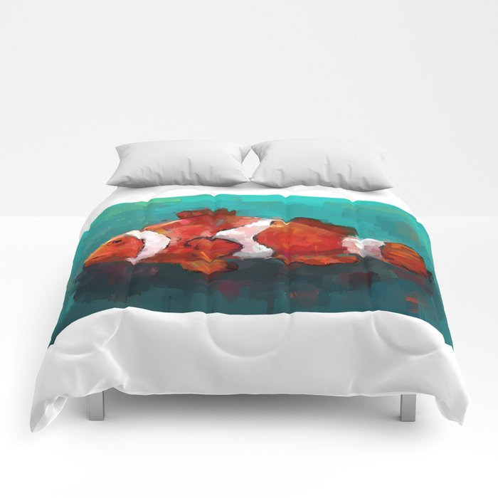 Red Clown Comforters
