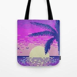 Pixel Sunset Tote Bag