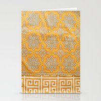 "orange pattern Stationery Cards featuring OrangE paTTern by ""CVogiatzi."
