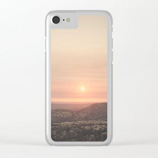Californian Sunset Clear iPhone Case