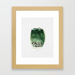 Matcha Bubble Tea Framed Art Print