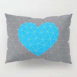 Cyan Heart Pillow Sham