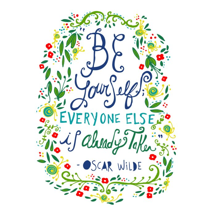 Be Yourself Comforters