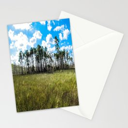 Cypress Trees and Blue Skies Stationery Cards